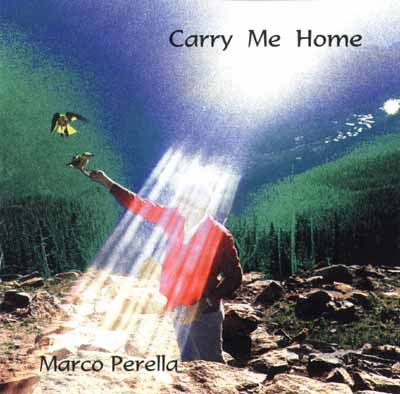 Sunrays over a man and a bird for the cover of Marco's music CD.